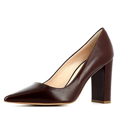 Lisse Natalia Femme Marron Foncé Cuir Shoes Evita Escarpins w5qOxFtvX