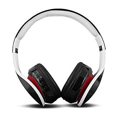 FX-Victoria Over Ear Headphone, for Bluetooth Wireless Headphones, Stereo Foldable Headset with Built in Microphone and Volume Control, On Ear Stereo Wireless Headset (D411Black)