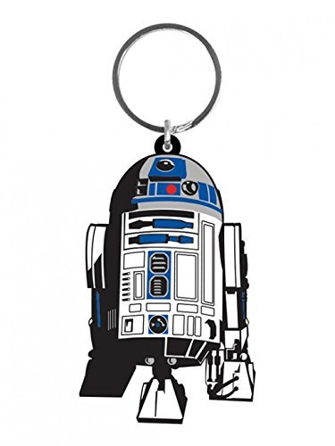 Star Wars - Rubber Keychain / Keyring (R2D2) (Size: 2