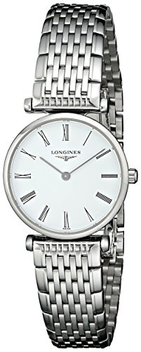 Longines Analog Wrist Watch - Longines Women's LNG42094116 La Grande Analog Display Quartz Silver Watch