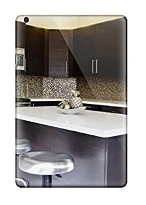 For Ipad Mini/mini 2 Fashion Design Kitchen With Brown Cabinets Amp White Marble Countertops Case-BYGttKx18925exFHk
