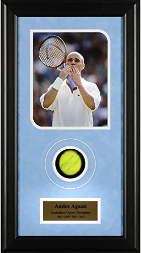 Andre Agassi Autographed Tennis Ball Australian Open Shadowbox - Fanatics Authentic Certified - Autographed Tennis Ball (Andre Agassi Memorabilia)
