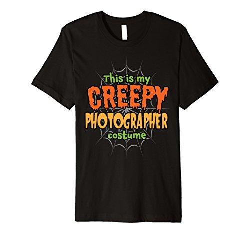 Mens Creepy Photographer Costume Premium Halloween T-Shirt XL
