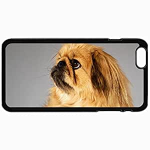 Personality customization Personalized Protective Hardshell Back Hardcover For iPhone 6, Dogs Pekingese 18842 Design In Black Case Color