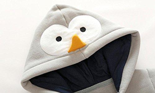 Omiky® Kleinkind Neugeborene Baby Jungen Mädchen Tier Cartoon Hoodie Spielanzug Outfits Kleidung Grau