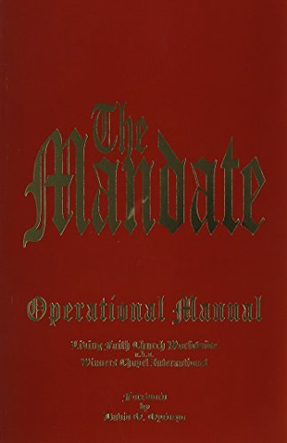By Bishop David Oyedepo The Mandate, a Timeless Operational Manual (Brand New/paperback) (1st Frist Edition) [Paperback] pdf epub