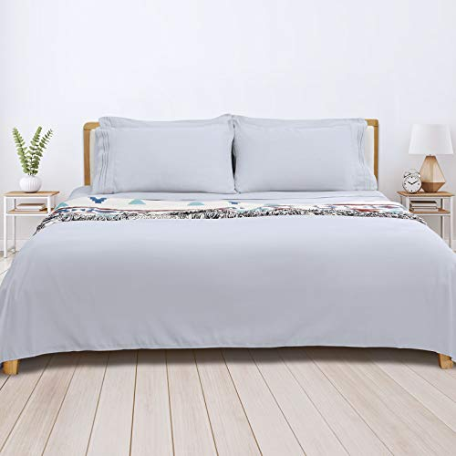 King Bed Sheet Set, 16-inch Deep Pocket Sheet, 4 Piece Hotel Luxury Soft Bedding Sheets, Light Grey, 1800 Thread Count Brushed Microfiber Sheet, Breathable Stay Cool Sheets, Resistant Fade Wrinkle..