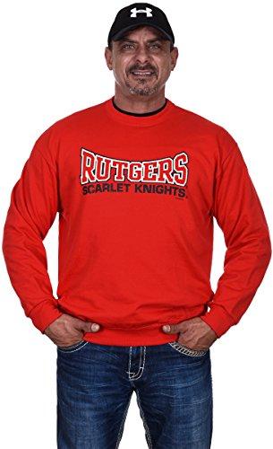 Men's Rutgers University Scarlet Knights Crew Neck Sweatshirt (X-Large)