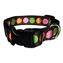 Paw Paws USA Sorbet Dippin Dot Dog Collar, Small, Multicolored