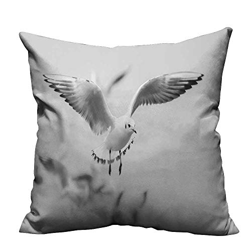 YouXianHome Home DecorCushion Covers The Seagulls Ready to Land Comfortable and Breathable(Double-Sided Printing) 16x16 ()