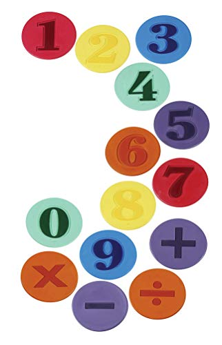 Sportime Poly Numbered Spots, Assorted Colors (Set of 14) - Numbered Poly Spots Set