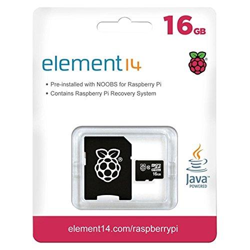 Raspberry Pi 16GB Preloaded (Noobs) SD Card ... (Noobs 8gb Sd Card)