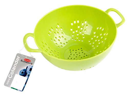 Culinary Elements 6-inch Mini Colander with Double Handles and Deep Bowl, Green (Colander Bowl Small)
