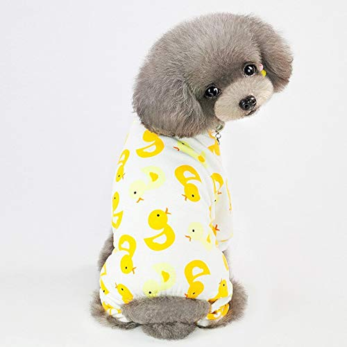 JACKBANG Cute Small Dogs Pajamas for Pet Dogs Clothes Puppy Jumpsuit for Dog Coat for Chihuahua Pomeranian Dogs Print Clothing Shirt XL -