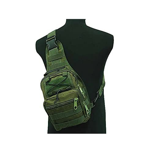 Tactical Molle Utility 3 Ways Shoulder Sling Pouch Backpack Chest Bag Small OD