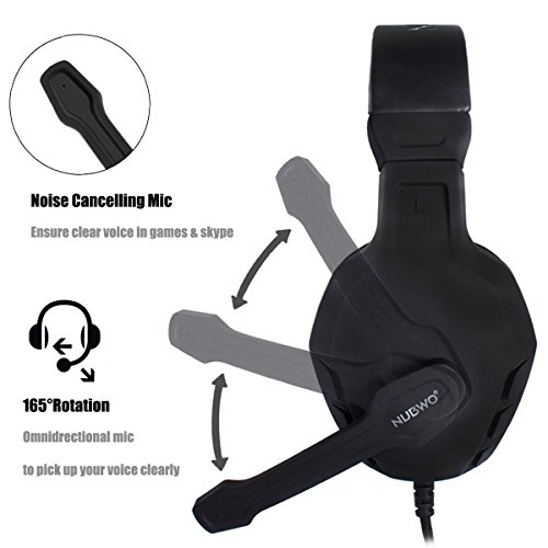 NUBWO Gaming Headset Xbox One PS4 Headset PC Mic, Comfort Earmuff, Lightweight, Easy Volume Control for Xbox 1 S/X Playstation 4 Computer Laptop(Black) (Black) by NUBWO (Image #4)