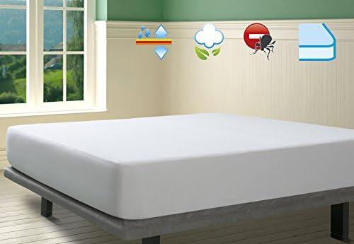 SAVEL, Protector de colchón Rizo 100% algodón, Impermeable y ...