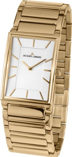 Jacques Lemans Liverpool 1-1755D Gold Plated Stainless Steel Case Gold Plated Stainless Steel Mineral Women's Watch