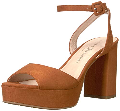 (Chinese Laundry Women's Theresa Heeled Sandal, Umber Suede, 9 M US)