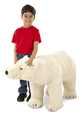 Melissa & Doug Giant Polar Bear - Lifelike Stuffed Animal (nearly 3 feet long)
