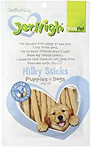 Vita Pet Jerhigh Milky Dog Treat Sticks for Puppies/Adult/Senior Dogs, Small/Medium/Large dogs, 100 g