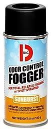 Big D 345 Odor Control Fogger, 5 oz Aerosol Can, Sunburst Fragrance (Pack of 12)