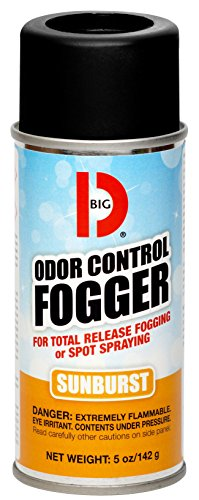 Odor Fogger - Big D 345 Odor Control Fogger, Sunburst Fragrance, 5 oz (Pack of 12) - Kills odors from fire, flood, decomposition, skunk, cigarettes, musty smells - Ideal for use in cars, property management, hotels
