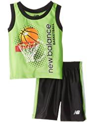 (新品)1.4折,$3.50,New Balance Dazzle Sport新百伦绿色背心+短裤,