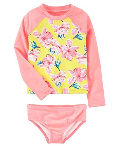 Baby Kids Girls Two Pieces Swimwear Mermaid Flamingo Hedgehog Sun Protection Swimsuit UV Rash Guard Sets 18-24M/Tag M