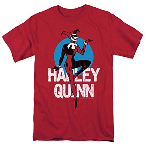 Batman: The Animated Series Harley Quinn T Shirt & Stickers (Medium) Red