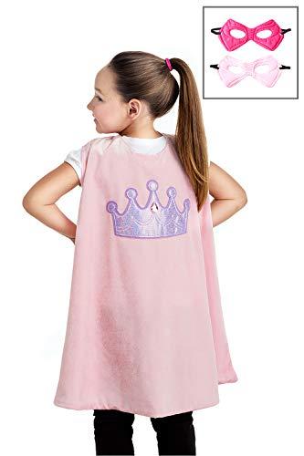 Little Adventures Super Hero Cape & Mask Set Costumes Age 3-8 (Pink Princess) -