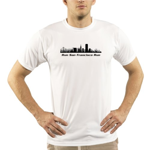 Split Time Men's Run San Francisco UPF Short Sleeve Running T-Shirt XXX-Large - San Francisco Marathon Shirt