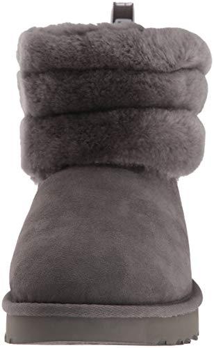 Mini Stivali Logo Grigio UGG Fluff Trapuntati Donna con tEBwa