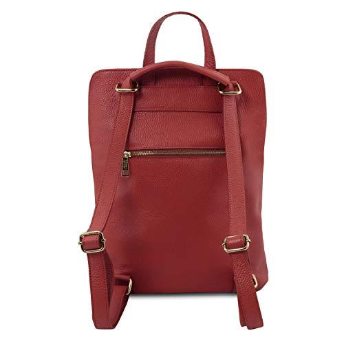 Bag Souple Leather TL Rouge Femme Sac TL141682 à Tuscany pour Rouge en Cuir Dos UaqAxwFT
