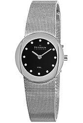 Skagen Women's 589SSSB Steel Black Diamond Dial Watch