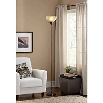 Mainstays floor lamp with cfl bulb included brown for Mainstays floor lamp with reading light brown