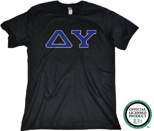 Ann Arbor T-shirt Co Men's DELTA UPSILON-Fitted, DU Fraternity T-Shirt
