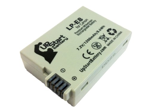 Canon Rebel T3i Battery - Replacement for Canon LP-E8 Digital Camera Battery (1200mAh, 7.2V, Lithium-Ion)