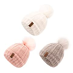 Kids Winter Hat Chenille Warm Fleece Lined Hats with Faux Fur Pompom Children Cozy Chunky Infant Toddler Baby Beanie Cap for Girls Boys Fall winter is right coming. As such, it's time to start thinking about a warm hat for your baby children ...