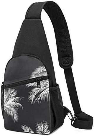 葉の柄 斜め掛け ボディ肩掛け ショルダーバッグ ワンショルダーバッグ メンズ 多機能レジャーバックパック 軽量 大容量