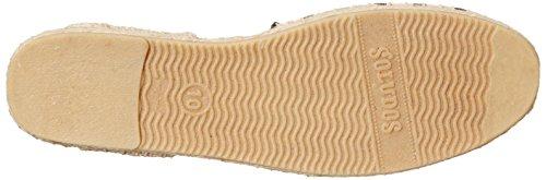 Soludos Women's Classic Espadrille Sandal, Natural/Black, 8 M US