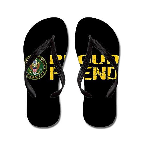 Esercito Di Noi Militari: Fiero Amico (nero E Oro) - Infradito, Sandali Infradito Divertenti, Sandali Da Spiaggia Neri