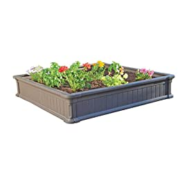 Lifetime Raised Garden Bed Kit, 4 Feet by 4 Feet 4 Kit contains one 4x4 garden bed Raised garden bed will not rot or attract insects like raised garden beds made out of timber Four interlocking panels create the sidewalls
