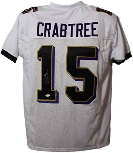 Michael Crabtree Autographed/Signed Baltimore XL White Jersey JSA ...