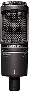 audio technica at2020usb plus cardioid condenser usb microphone musical instruments. Black Bedroom Furniture Sets. Home Design Ideas