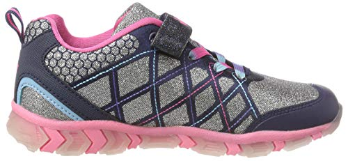 Lico Argenté marine pink Alisha Sneakers Basses Fille Blinky pink silber Silber Vs marine HaR87qWxH