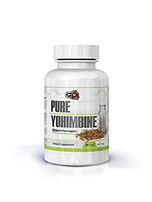 Pure Nutrition USA Pure Yohimbine HCl 2.5 mg Powerful Thermogenic Fat Burning Weight Loss Dietary Sports Supplement