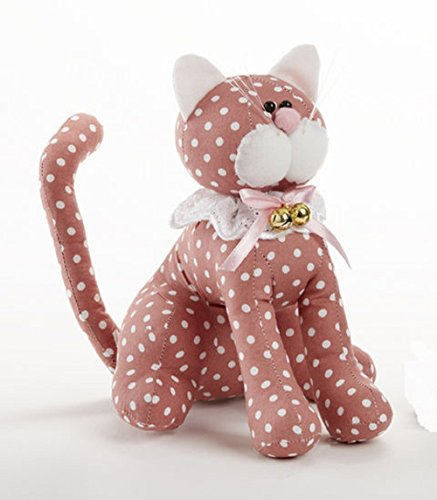 Delton Poducts Sitting Polka Dot 9 Inches Cat Stuffed Animals Pink