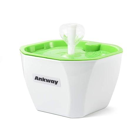 Ankway Bebedero Gatos, Fuente para Gatos Automático Bebedero para Mascotas 1.6L con filtros de