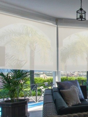 Cordless Solar Shades 5% Openness 24-60in